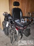 Shop rider motorized wheelchair and another wheelchair