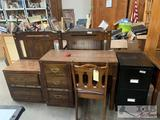 Beautiful Desk and Chair, Headboard, Night Stand abs File Cabnet
