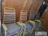 4 Vintage Outside/Patio Folding Chairs