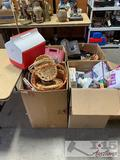 4 Large Boxes of Misc Estate Items