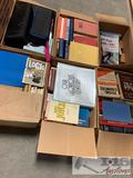 5 Boxes of Books and 1 Box of Cassettes