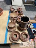 Approx 18 Clay Pots And Figurines