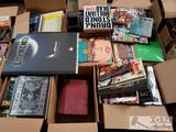 9 Boxes of Assorted Books