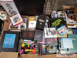 Pallet of cds and cd holders (Beatles Pink Floyd and more)