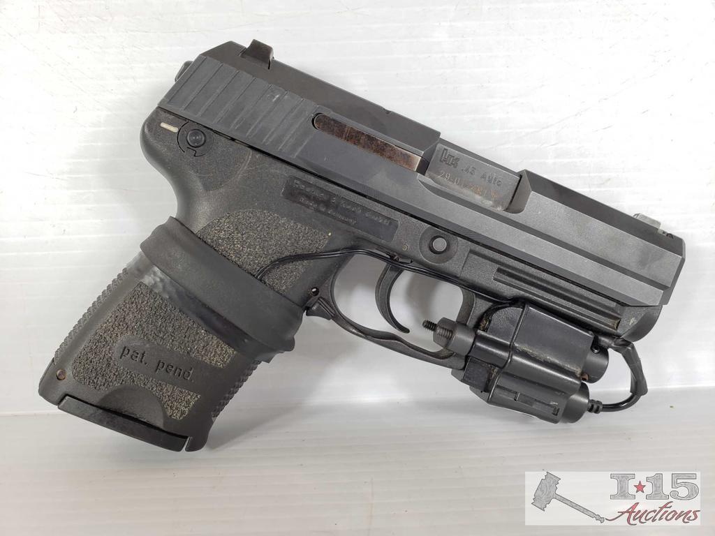 HK USP Compact .45 Auto Semi-Auto with Laser Attachment and Case