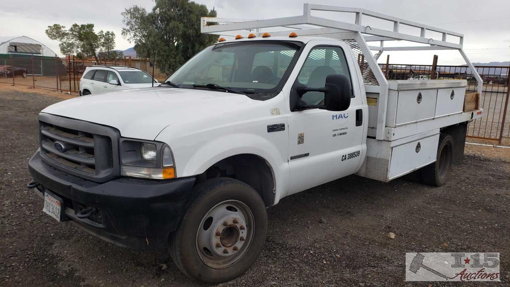 2003 Ford F-450 7.3L Powerstroke Diesel Truck with Service Bed. Turns Over, Won't Start
