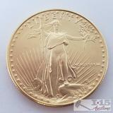 1988 1 oz Fine Gold $50 Walking Liberty Coin in Case