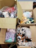 4 Boxes of ty Beanie Babies, Hippity. Hoppity, Floppity, Chip, Spooky. Happy, Rover, and Many More