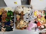 3 Totes of ty Attic Treasures, Beanie Babies, Beanie Kids, and Zodiac Beanie Babies