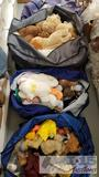4 Zip-Up Storage Bags Full of ty Plush and Attic Treasures