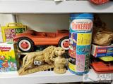 Vintage Toys. Tinkertoy, Snoopy and Woodstock