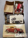 2 Model Cars. Hubley 1930 Packard Roadster Metal Kit and Chevy Nomad