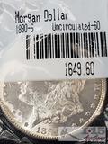 1880 Morgan Silver Dollar San Francisco Mint, Uncirculated