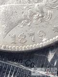 1879 Morgan Silver Dollar Philadelphia Mint, Uncirculated