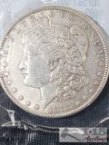 1883 Morgan Silver Dollar Philadelphia Mint, Uncirculated