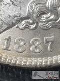 1887 Morgan Silver Dollar Philadelphia Mint, Uncirculated