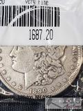 1890 Morgan Silver Dollar Philadelphia Mint, Uncirculated