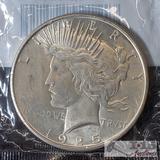 1925 Silver Peace Dollar Philadelphia Mint