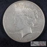 1924 Silver Peace Dollar Philadelphia Mint