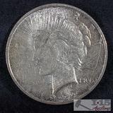 1922 Silver Peace Dollar Denver Mint