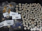 Barber, Mercury, and Roosevelt Dimes, Assorted Quarters and Gold Plated Mercury Dimes