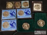 9 Fine Silver Coins, 1 oz Each