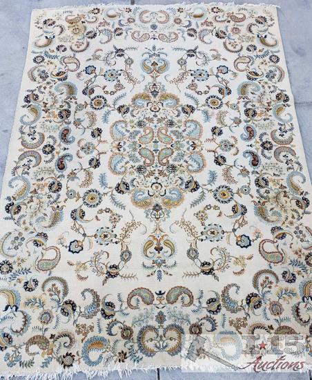 "Kashan Iranian Handmade Rug 9' x 12'8"""