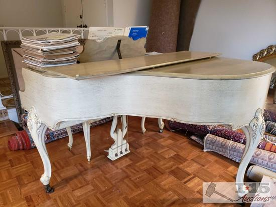 Story and Clark Baby Grand Piano with Sheet Music
