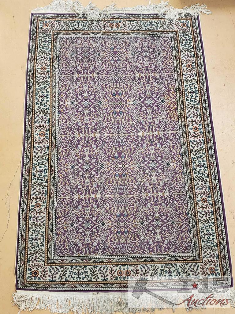 "Kayseri ""Flower Garden"" Wool on Cotton Rug"