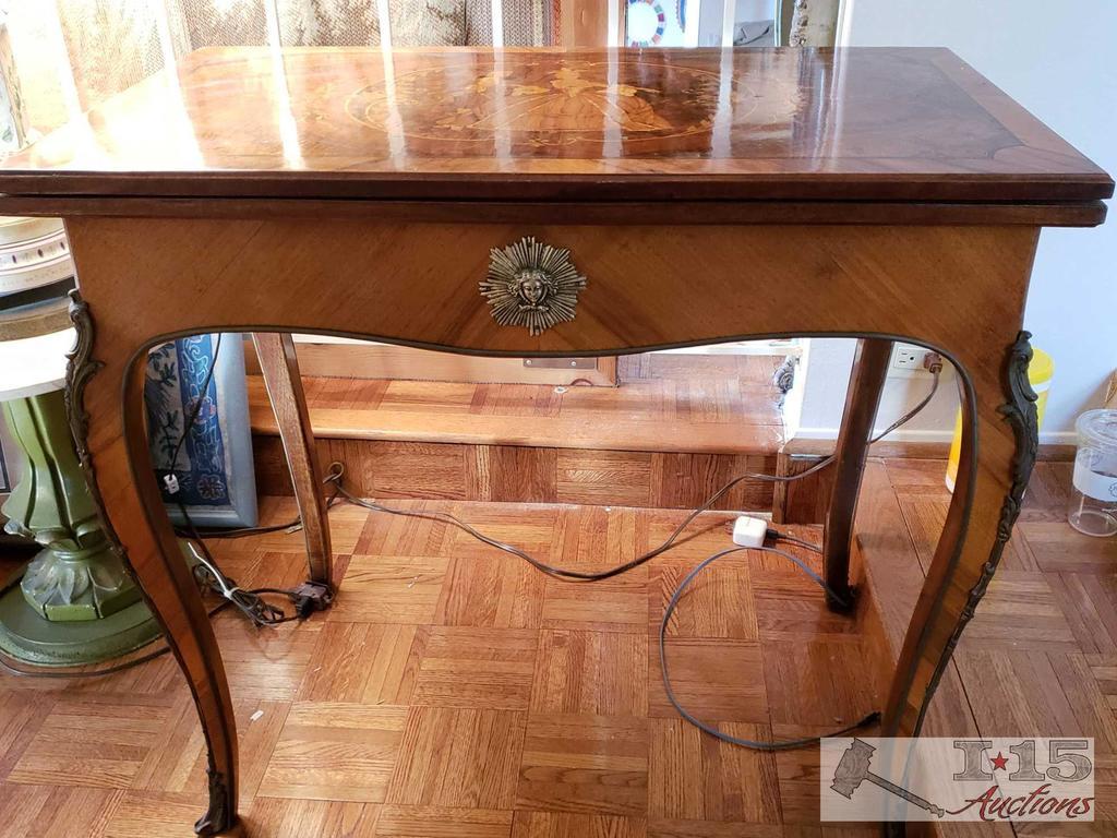 19th Century Italian Inlaid Game Table