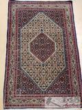Turkoman Bukhara Handmade Rug from Uzbekistan 4'3