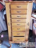 Wooden Powell Jewelry Armoire
