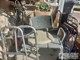 Wheel Chair, 3 Walkers and Shower Chair