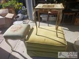 Rolling Ottoman and 2 End Tables
