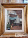 Framed and signed Orginal W. Heykoop Painting