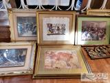 9 Authentic Framed Art from Around the World! Most Signed!!