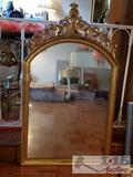 Large Mirror with Antique Gold Frame