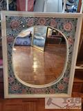 Mirror in Floral Frame