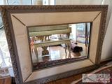 Beautiful Large Mirror with Floral Print Borders