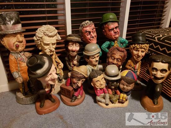 Twelve Esco Chalkware Theatrical Characters Appraised Value $1500.00