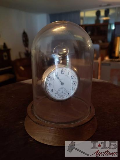 Elgin Pocket Watch in Display Case