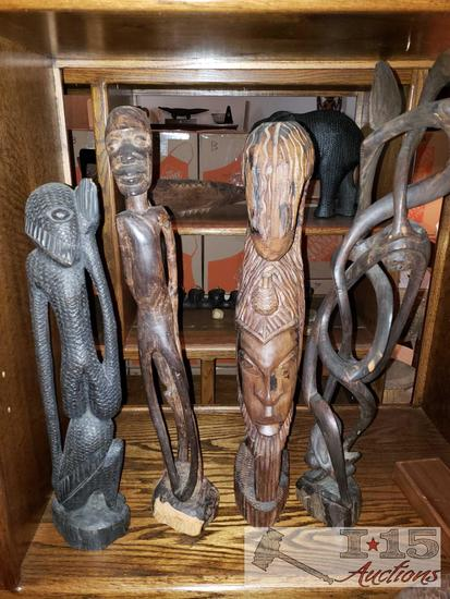 Brass Liberty Bell, Carved Figures, Tribal Masks, and More