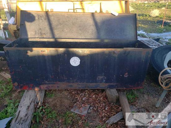 "Metal Storage Box Approximately 72""L x 25""T x 19""D"