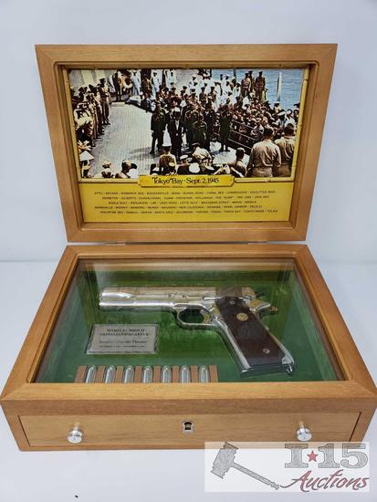 Colt 1911A1 WWII Commemorative Asiatic-Pacific Theater with Wooden Display Case