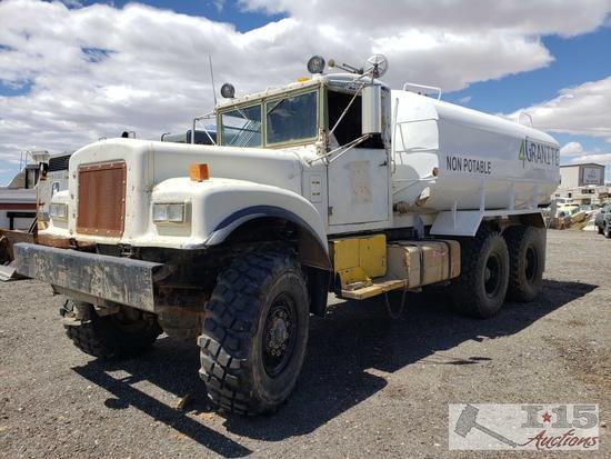 1963 Diamond T M-54 5 Ton 6X6 4,000 Gallon Water Truck, See Video!!