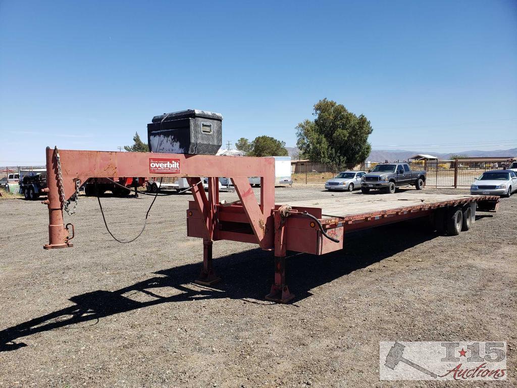 "2002 40ft Overbuilt 20 Ton Hydraulic Tilt Goose Neck Trailer, Includes 3"" Gooseneck Ball!"