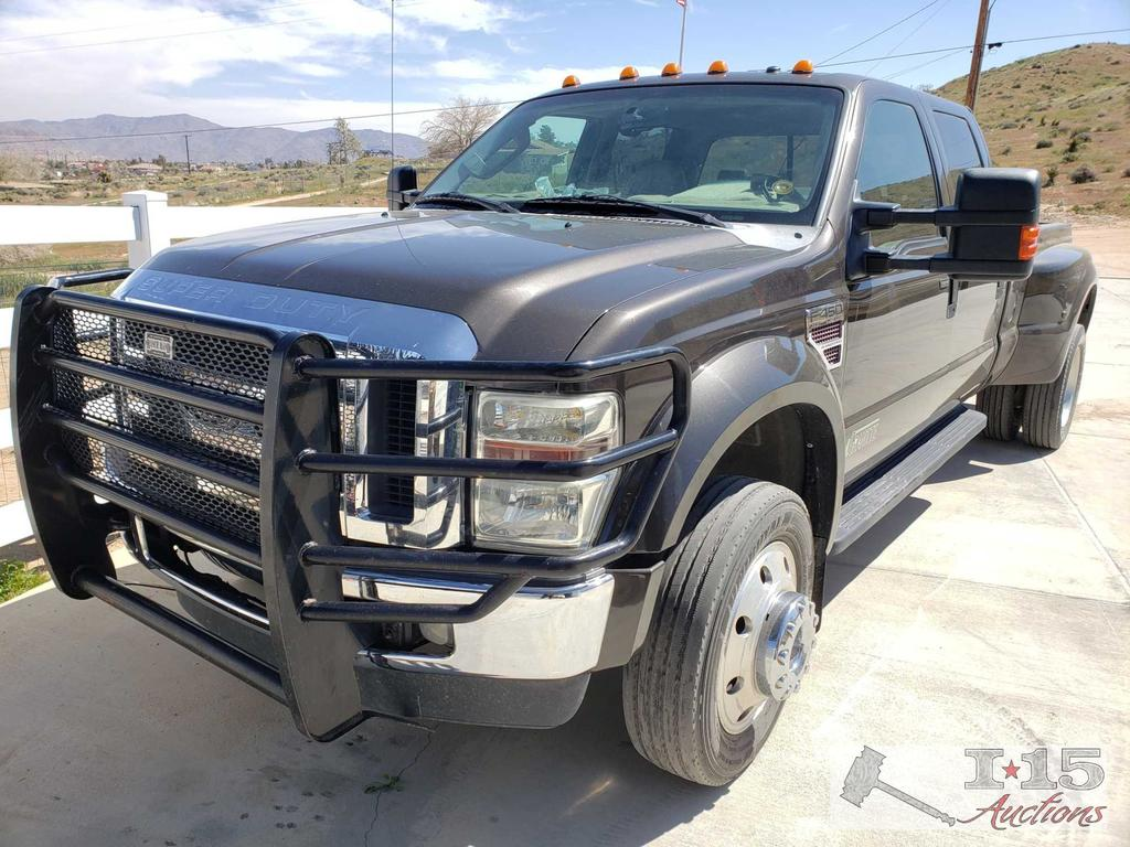2008 Ford F-450 Super Duty Lariat 6.4L Turbo Diesel 4...4 Dually, See Video! Smog Exempt!
