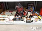 Toys, Bob's Big Boy Figurine, Books, Automatic Card Shuffler with Cards and More