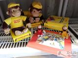 Curious George Collection Stuffed Animals and Books