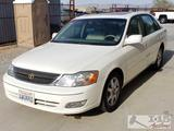 2002 Toyota Avalon XLS White, only 45,890 Miles, Current Smog, See Video!